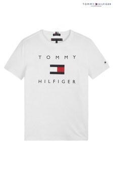 Белая футболка  с логотипом Tommy Hilfiger