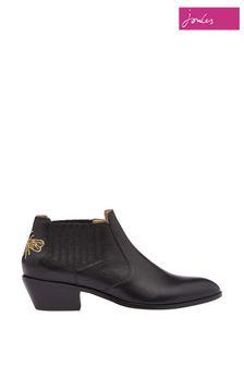 Joules Black Primrose Short Cut Off Boots
