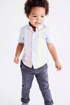 Рубашка с коротким рукавом (3 мес.-7 лет)