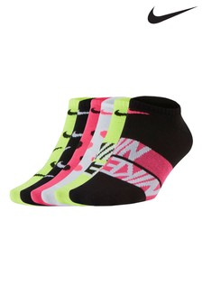Nike Yellow Trainer Socks 6 Pack