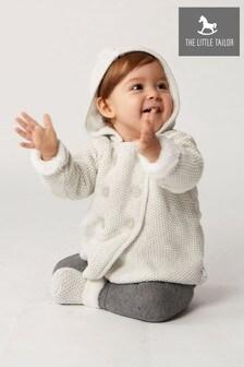 The Little Tailor Grey Baby Pram Plush Lined Coat