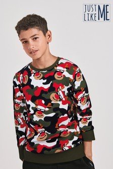 Reindeer All Over Print Crew Jumper (3-16yrs)