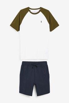 Raglan Jersey Short Pyjama Set