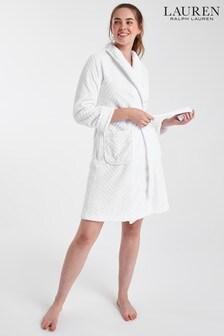 Lauren Ralph Lauren®白色羅馬領超柔軟睡袍