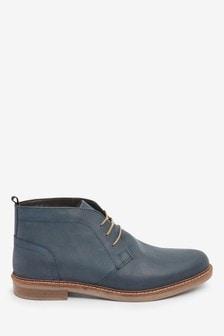 Waxy Finish Leather Chukka Boots