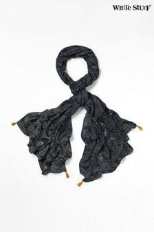 White Stuff繽紛印花人造絲圍巾