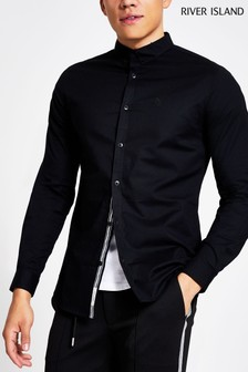 River Island Black Oxford Maison Shirt