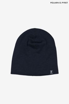 Polarn O. Pyret ブルー ソフト メリノ ビーニー帽