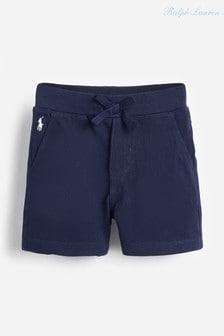 מכנסיים קצרים עם לוגו בכחול כהה של Ralph Lauren