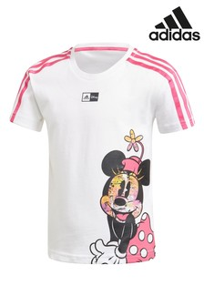 تي شيرت Minnie Mouse™ أبيض من adidas Little Kids