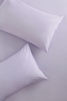Set of 2 Lilac Easy Care Polycotton Pillowcases