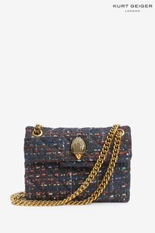Kurt Geiger London Red Tweed Mini Kensington Bag
