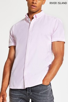 River Island Pink Light Oxford Shirt