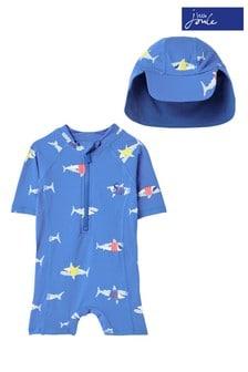 Joules Blue Sun Printed Swimsuit Set