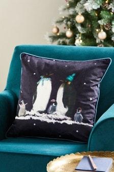 Poduszka z rodziną pingwinów