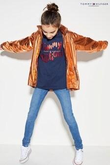 Tommy Hilfiger Orange Metallic High Shine Jacket