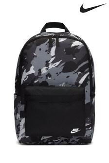 Rucsac cu model camuflaj Nike Heritage negru