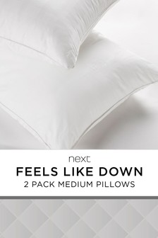Medium Set Of 2 Feels Like Down Pillows