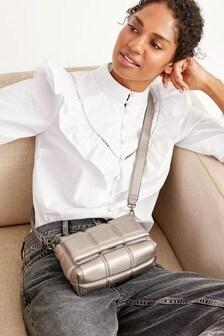 Маленькая стеганая сумка с длинным ремешком