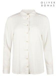 Oliver Bonas White Long Sleeve Shirt