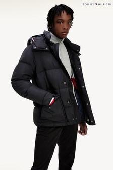 Tommy Hilfiger Black Down Hooded Jacket