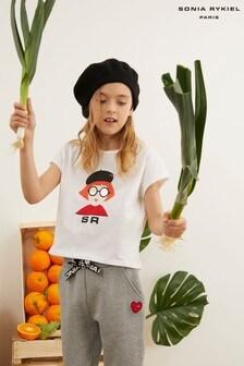 Sonia Rykiel Paris Girl Logo T-Shirt