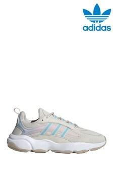 נעלי ספורט של adidas Originals דגם Haiwee בקרם/כחול