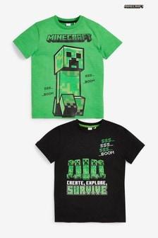 Minecraft T シャツ 2 枚組 (4~14 歳)