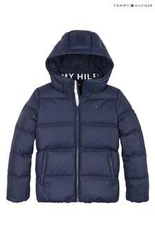 Синяя пуховая курткаTommy Hilfiger