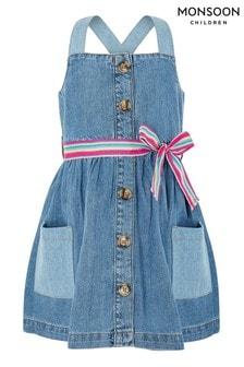 Modré denimové šaty s drobným potiskem Monsoon