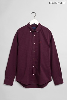 Gant Red Broadcloth 2 Colour Gingham Regular Shirt