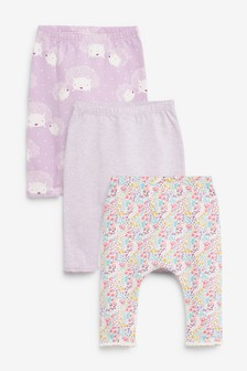 3 Pack Hedgehog Leggings (0mths-3yrs)