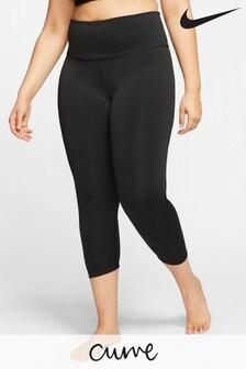 Nike Curve Yoga Leggings mit Raffung, schwarz