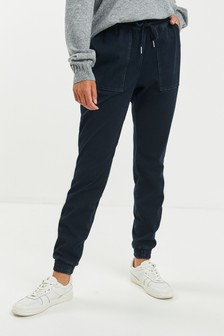 Jersey-Denim-Jogginghose