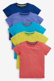 5 Pack Short Sleeve T-Shirts (3mths-7yrs)