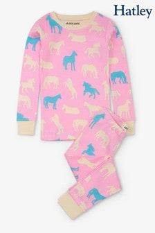 طقم بيجاما للأطفال وردي حصان منHatley