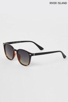 River Island Black Tortoiseshell Effect Ombre Wayfarer Sunglasses