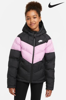 Nike gefütterte Jacke, schwarz/pink