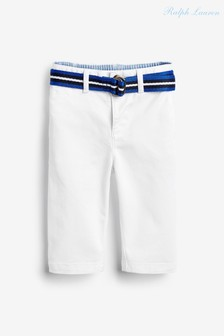 Ralph Lauren White Chinos With Belt