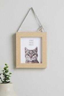 Závesná dekorácia s mačkou