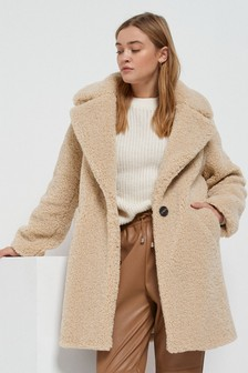 Krátky plyšový kabát