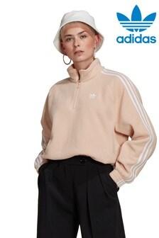 adidas Originals フリース ハーフジップ パーカー