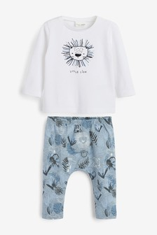 Lion Stretch Jersey T-Shirt And Leggings Set (0mths-3yrs)