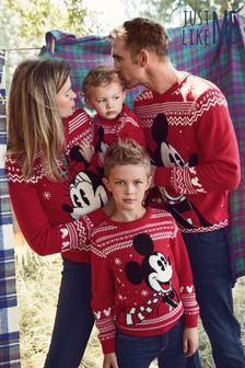 Matching Family Kids Christmas Mickey Mouse™ Jumper (3mths-7yrs)
