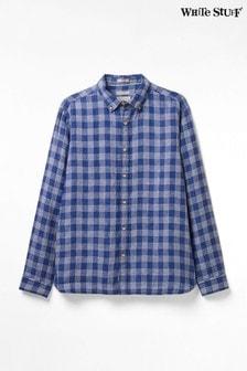 قميصكتانأزرق مربعاتLoggerheads منWhite Stuff