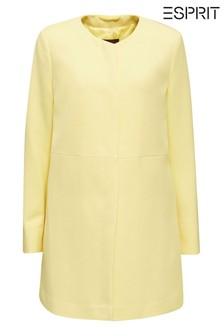 מעיל רגיל ארוג בצהוב של Esprit