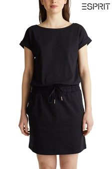 Esprit Black Casual Black Dress