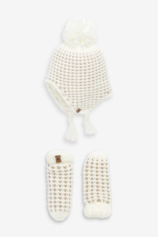2 Piece Trapper And Mittens Set (Younger)