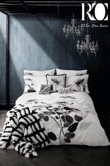 Rita Ora Elira Monochrome Floral Duvet Cover