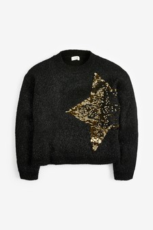 Sequin Star Jumper (3-16yrs)